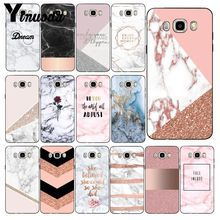Yinuoda Chic Pink Marble Pretty design jpg Phone Case Back Cover For Samsung Samsung