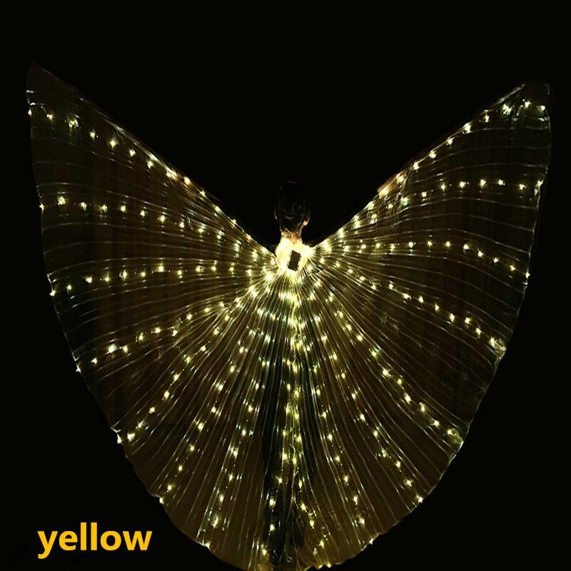 Accesorios De Danza Del Vientre Adult Wings Led Con Bastones Ajustables Accesorios De Rendimiento De Escenario Brillantes