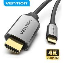 Vention USB C HDMI 4KประเภทCถึงสายHDMI Thunderbolt 3สำหรับHuawei P40 Mate 30 Pro macBook Pro Air Ipad Usb C