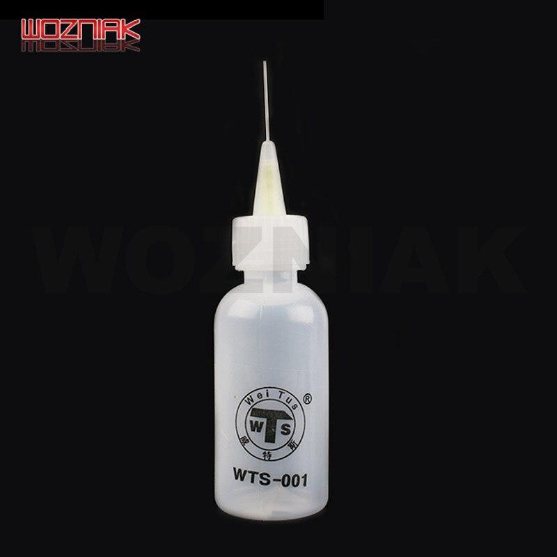 WOZNIAK 50ml Plastic Liquid Alcohol Bottle For Dispenser Rosin Solder Flux Paste For Mobile Phone PCB Cleaning Welding Repair