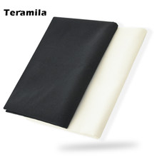 100% Cotton Fabric High Quality Classica Solid Black Color Design Twill Fat Quarter Home Textile Quilting Patchwork