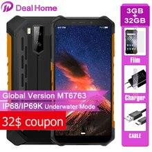 Ulefone armadura X5 IP68 resistente Smartphone Android 9,0 de 5,5 pulgadas 3GB 32GB 5000mAh teléfono celular 4G Dual SIM NFC teléfono móvil Android