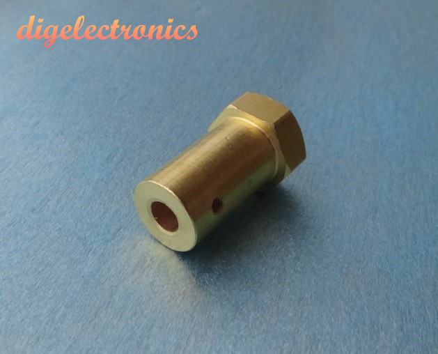 17mm Hex Coupling Adapter Shifting Coupling Inner 6/8mm Copper Connector For DC Gear Motor Stepper Motor RC Car Wheels Chassis