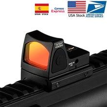 Mira réflex para Rifle de caza, visor de punto rojo Mini RMR, Glock/Shot, ajuste de Weaver carril de 20mm para Airsoft