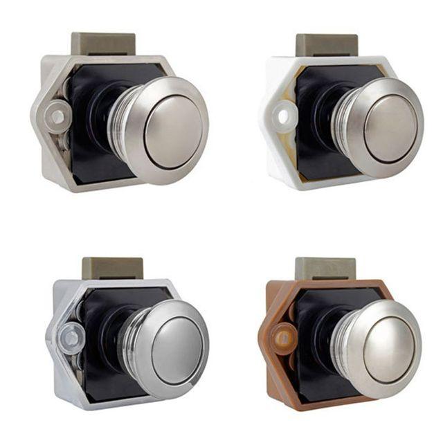 Diameter 20mm Camper Car Push Lock RV Caravan Boat Drawer Latch Button Locks For Furniture Hardware 3