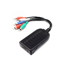 HDMI do skaler RGB komponent (YPbPr) wideo + R/L adapter audio konwerter do telewizora HD PS3