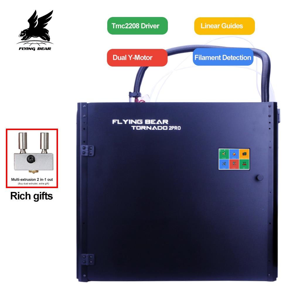 Большой 3D принтер Flying Bear Tornado 2 Pro, комплект для сборки прецизионного 3D принтера с двойным экструдером, полностью металлической рамой и линейной рейкой|3D принтеры|   | АлиЭкспресс