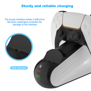 Image 5 - Wireless Dual Controller Charger Docking Beae Station Lightweight Game Playing Elements for PS5 Controller Gamepad