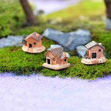 Mini Dollhouse Stone House Resin Decorations For Home And Garden DIY M