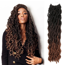 18Inch 24 strands/pack Goddess Nu Locs Soft Crochet Hair Bra