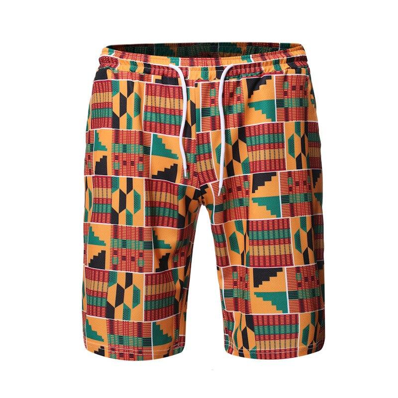 Men's 3D Traditional Africa Print Board Shorts Trunks 2020 Summer New Quick Dry Beach Shorts Men Hip Hop Short Pants Beach Wear