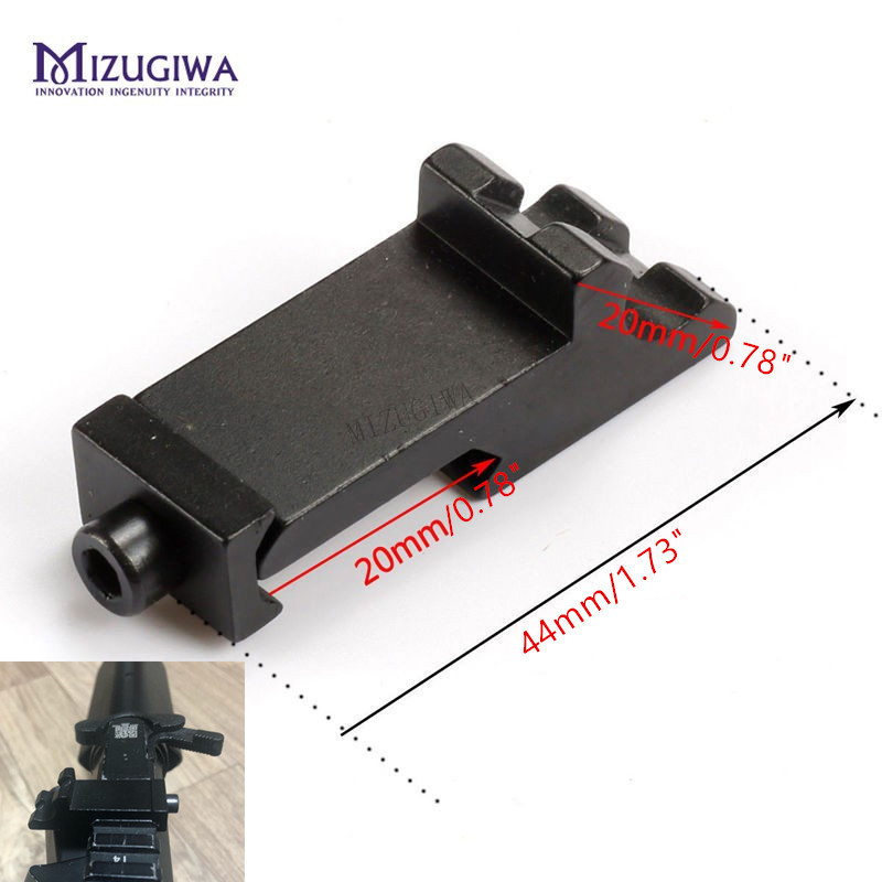 MIZUGIWA Scope Mount Tactical 45 Degree Angle Offset Side Adapter RTS 20mm Picatinny Rail Weaver Laser Hunting Rifle Caza
