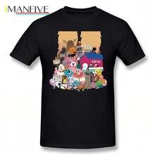 цена на Gumball Amazing World T Shirt The Amazing World Of Gumball T-Shirt Cotton Men Tee Shirt Print Cute Plus size Streetwear Tshirt