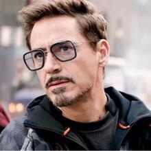 NEW Fashion Avengers Tony Stark Flight Style Sunglasses Men Square Brand Design