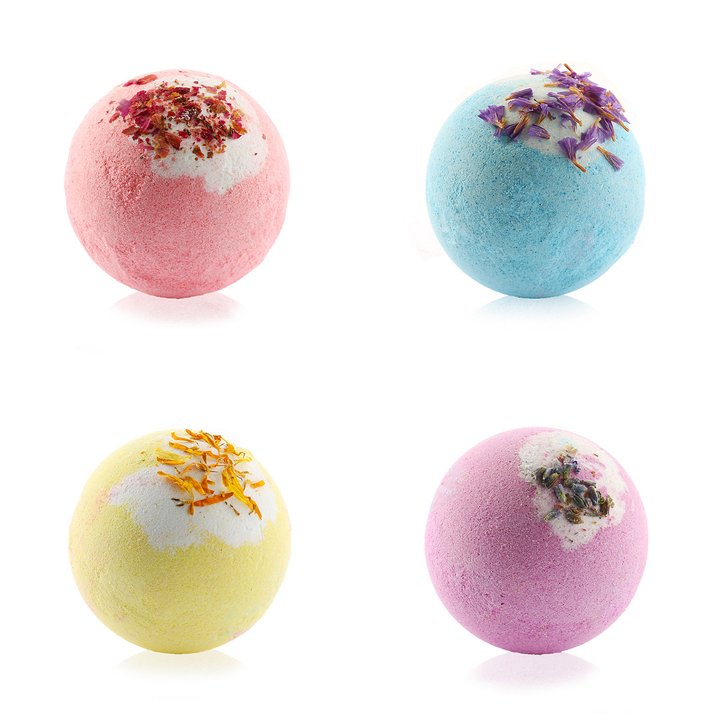 100G/PCS Bath Salt Natural Handmade Soap Ball Bubble Organic Pump Salt Ball Moisturizing Bubble Bath Essential Oil BALL