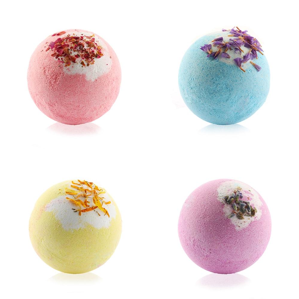 100G/PCS Bath Salt Natural Handmade Soap Ball Bubble Organic Pump Salt Ball Moisturizing Bubble Bath Essential Oil BALL