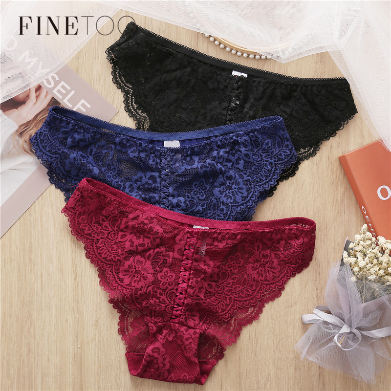Lace Panty Sexy Weave Panties For Women Floral Briefs L-2XL Female Underwear Lace Underpants Fashion 8 Colors 2020 Sexy Lingerie