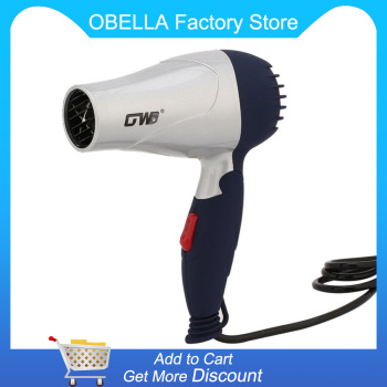 1500W Mini Foldable Hair Dryer Blower Travel Household Electric Hair Blow Dryer Hot Wind Low Noise Hairdryer EU Plug AC 220V portable mini foldable 1200w hair blow dryer travel hair dryer compact blower