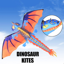 цена на New 140cx120cm Dragon Kite Single Line Flying Kite with Tail 100m Handled Flying Line Flying Kite Toys For Kids Adults Outdoor