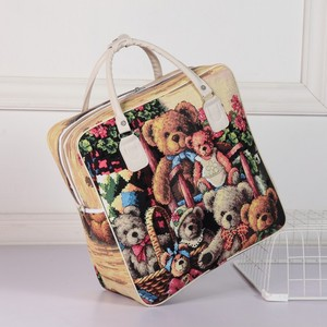 Image 4 - PU Leather Travel Bag Women Girl Cute Duffle Pouch Weekend Overnight Cartoon Shoulder Tote Portable Luggage Item