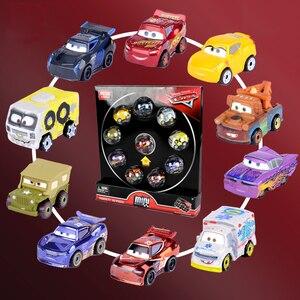 Image 2 - 10 cái/bộ Nguyên Gốc Disney Pixar Cars 3 Mini Kim Loại Diecasts Đồ Chơi Xe Lightning McQueen Cơn Bão Đen Jackson Xe Đồ Chơi FLG72