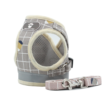Pets Reflective & Adjustable Harnesses with Leash Set