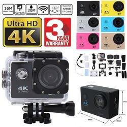SJ9000 Wifi 4K 1080P Спортивная Ультра HD камера DVR DV видеокамера 30 м Водонепроницаемая видеокамера на шлем