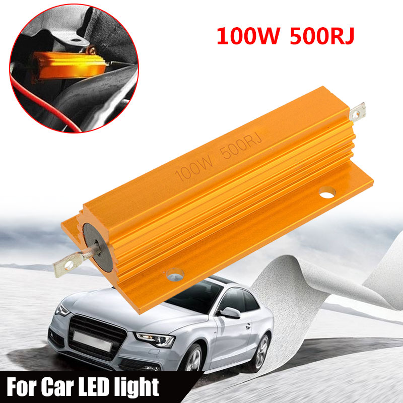 High Power Resistor Aluminum Shell Resistance Practical Durable 500Ω Yellow Accessories Tool Part Car Turn Signal