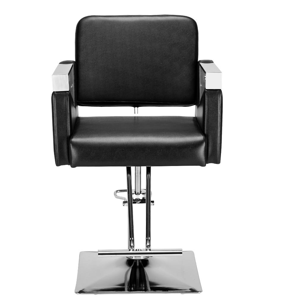 Hair Salon Barber Shop Chair Lift Chair Classic Square Chair Net Red Stainless Steel Hair Salon Hairdressing Chair Barber Chair