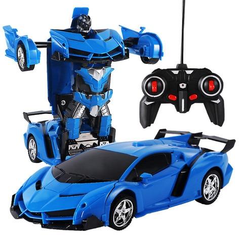 carro rc uma chave de deformacao robo carro esportivo modelo robo brinquedo uma rotacao chave