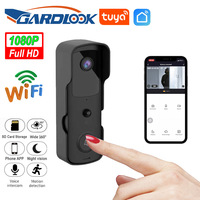 Tuyasmart 와이파이 초인종 카메라 비디오 도어 벨 인터폰 IR 알람 무선 보안 카메라 방수 1080P HD 원격 모니터링