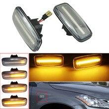 2PCS Dynamic Side Marker Turn Signal Lamp For Nissan Teana Cefiro Maxima J31 04 07 For Sylphy Sunny Murano Fender Lamp Light