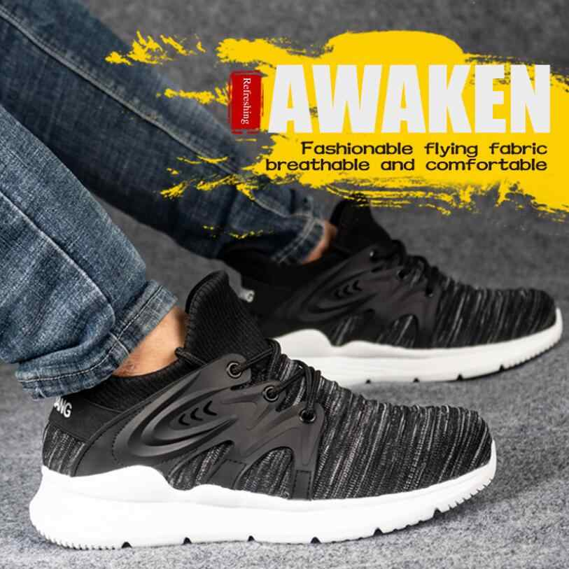 CY26 ZAPATOS DE TRABAJO DE SEGURIDAD botas para hombres botas de seguridad de acero de protección para hombres