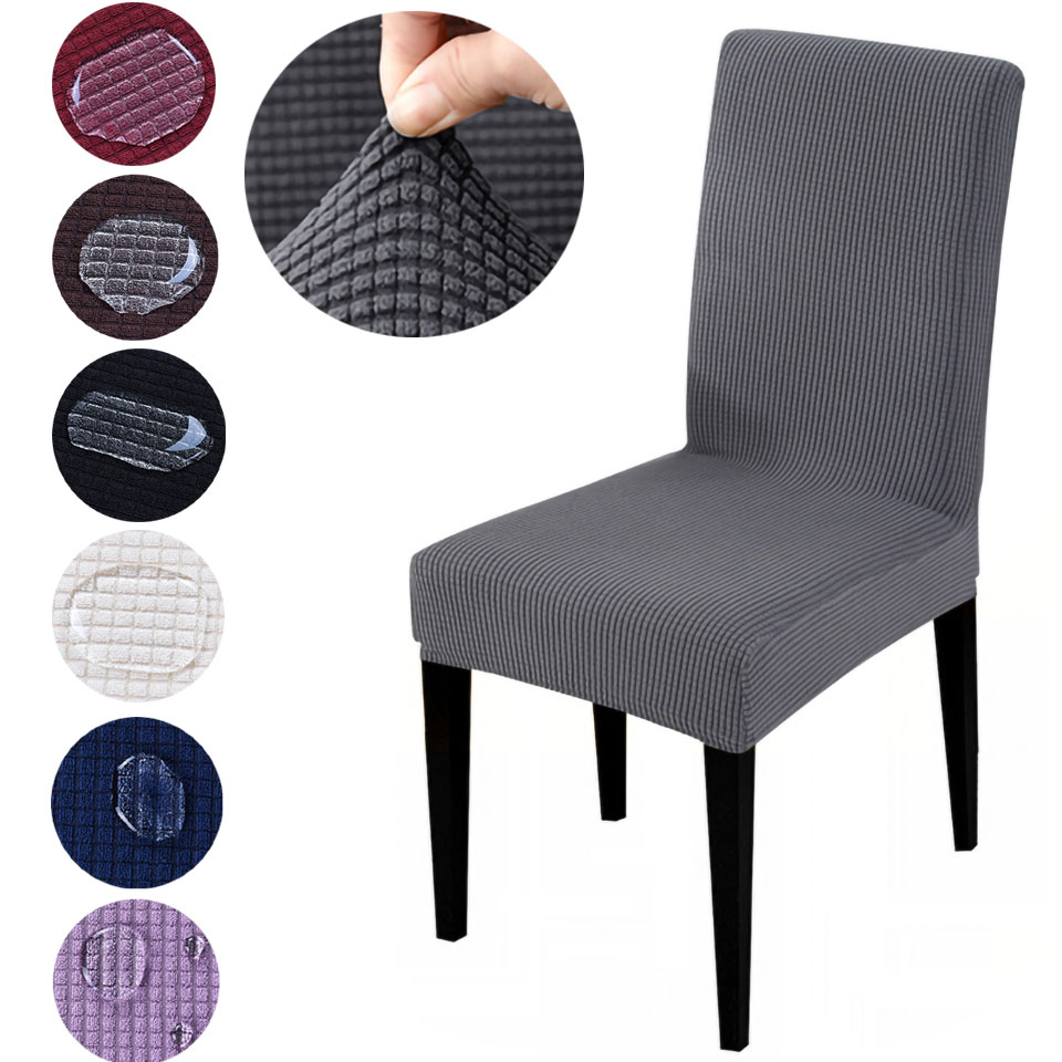 Velvet Fabric Chair Cover Waterproof Non-Skid Anti-Dirty Spandex Soft Chair Cover For Hotel Party Banquet Home DR001Airldianer