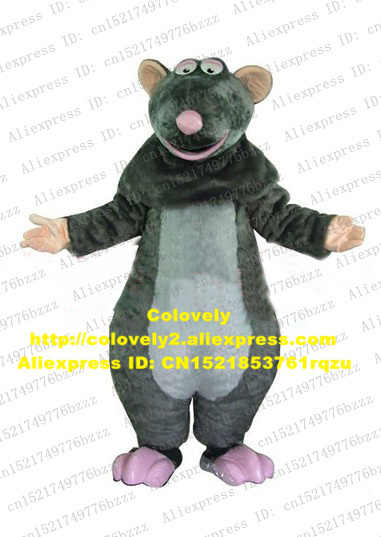 Cute Gray Remy Django Ratatouille Mice Mouse Rat Ratton Mascot Costume With Pink Foot White Ellpitic Tummy No 4255 Free Shipping Ratatouille Costume Rat Mascot Costumeremy Ratatouille Costume Aliexpress