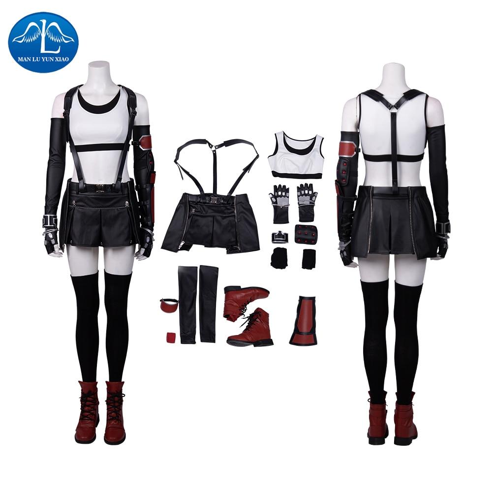 Manluyunxiao Cosplay Tifa Lockhart Costume Anime Game FF7 Adult Women  Final Fantasy VII Cosplay Halloween