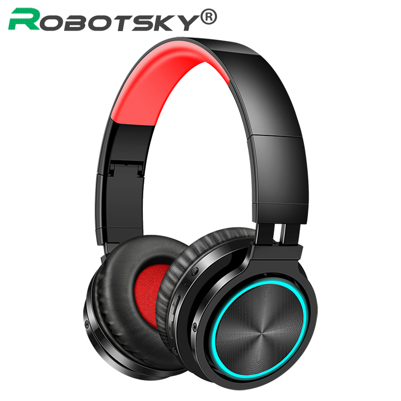 B12 Wireless Headsets Bluetooth V5.0 Professional Gaming Headphones LED Light HD Stereo Supoort TF Card For PC Smart Phones