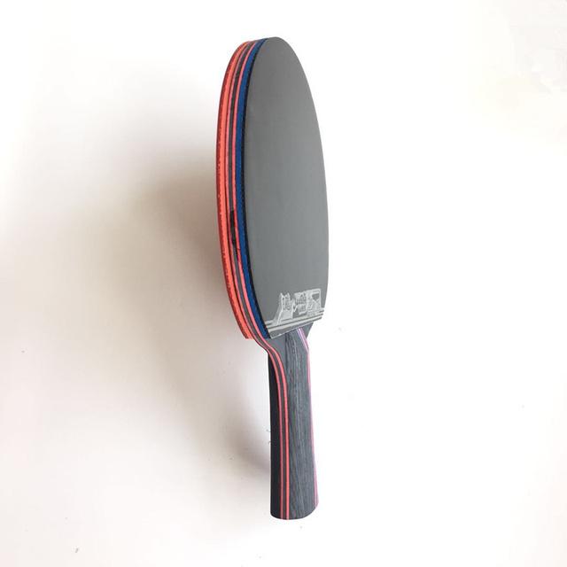 Lemuria Hybrid Wood 9 8 jakość marki rakieta do tenisa stołowego podwójna twarz pryszcze niebieska guma rakietka do ping-ponga tenis de mesa tanie i dobre opinie Pryszcze w 158*152mm Centrum ostrości (all-round metody) Poziomym uchwytem Pełna drewna oraz z włókna węglowego