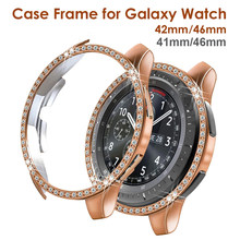 Coque de protection en cristal scintillant pour Samsung Galaxy Watch, antichoc à strass, 42mm 46mm, 41mm 45mm, pour femmes et filles