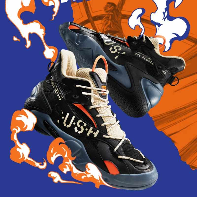 2018 New Mens Basketball Shoes Spring Fall Basketball Shoes High-Top Sneakers Non-Slip Wear-Resistant