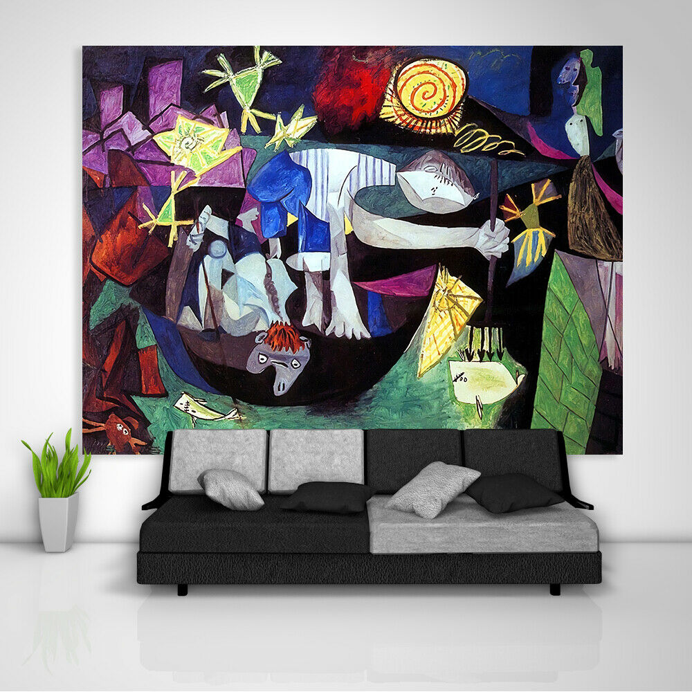 Picasso Tapestry Art Wall Hanging Sofa Table Bed Cover