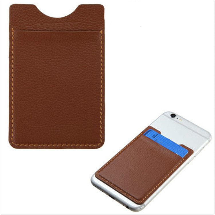 Mobile Phone Signal Shielding Bag PU Leather Mobile Phone Card Stick Anti Scanning Mobile Phone Back Stick Card Cover