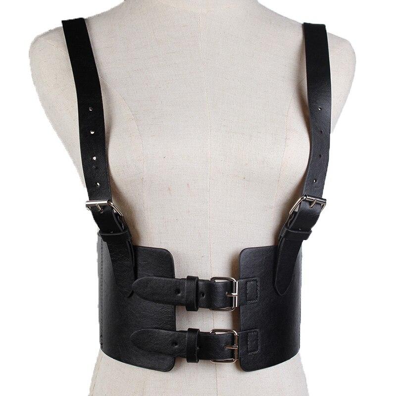 Handmade Pu Leather Cummerbund Adjustable Buckled Wide Waistband Women Corset Belt Cincher Fashion Lady Waist Sculpting Belts