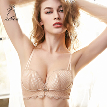 купить Women's Bralette Ladies Secret Mesh Lace Bralette Bras For Women Sexy Lingerie Plunge Bra Unlined Push Up Black Brassiere недорого