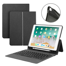 Black Color Wireless Bluetooth Keyboard Case for iPad 2018 2017 Pro 9.7 Inch Air 2 & 1