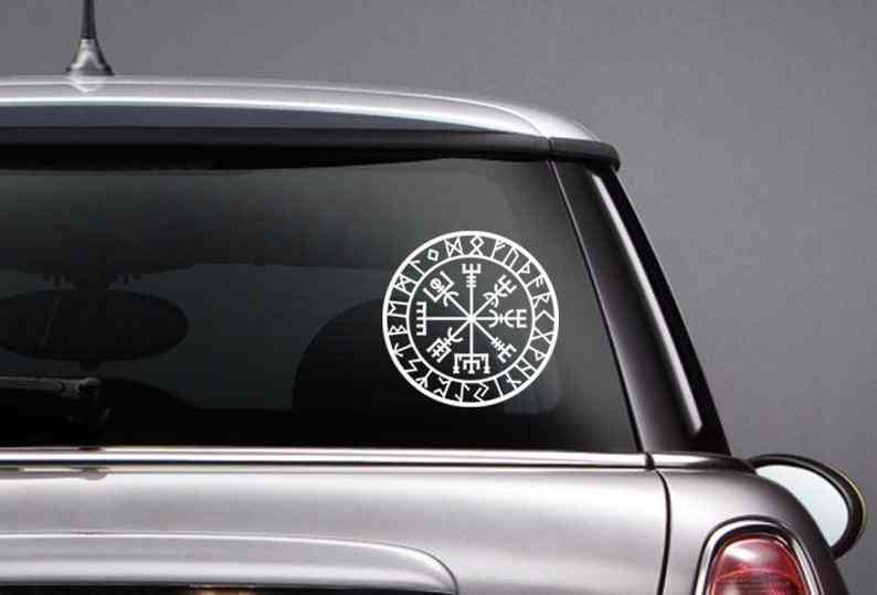 Zwart/Zilver Wbgva Vinyl Decal Snijden Stickers Modieuze Rear Voorruit Auto Styling Decor Glas Creativiteit Decal S806