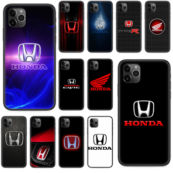 Honda JDM logo car cool Phone case For iphone 4 4s 5 5S SE 5C 6 6S 7 8 plus X XS XR 11 PRO MAX 2020 black waterproof fashion image