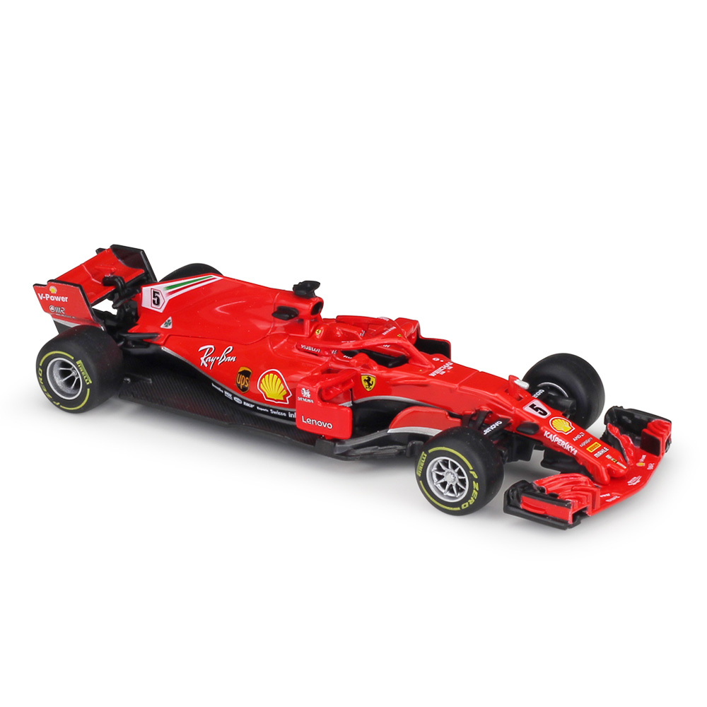 Bburago 1/43 1:43 <font><b>2018</b></font> Vettel No5 <font><b>F1</b></font> Formula 1 Racing Car Diecast Display Model Toy For Kids Boys Girls image