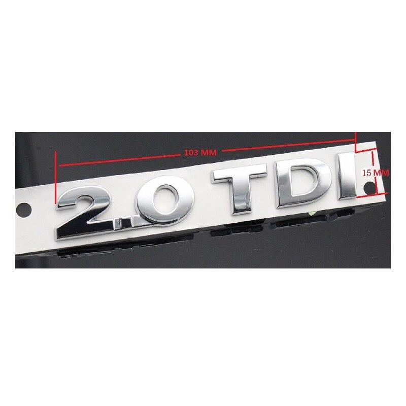 Logo d'autocollant d'emblème d'insigne en plastique 2.0TDI