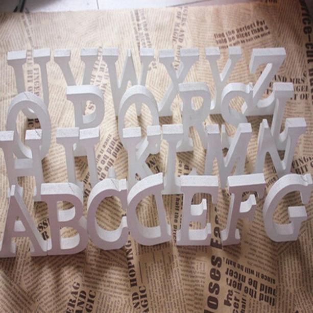 1 шт. Diy отдельно стоящие деревянные буквы Белый Алфавит для свадьбы, дня рождения, вечеринки, украшения для дома индивидуальный дизайн имени...